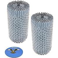 HQRP 2-pack Refrigerator Air Filter for Electrolux E23CS78GP E23CS78GS E23CS78HP E23CS78HS E32AF75FP E32AR75DC E32AR75FP FGTC2349KS series Fridges + HQRP Coaster