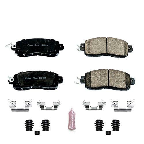 Power Stop Z23-1650 Z23 Evolution Sport Carbon Fiber Infused Ceramic Brake Pad with Hardware