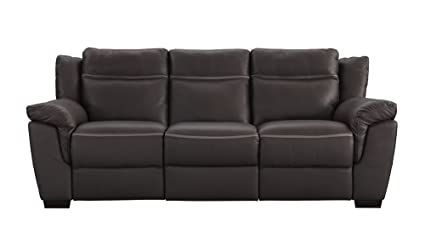Delicieux Natuzzi Editions Amalfi Brown Leather Power Motion Reclining Sofa