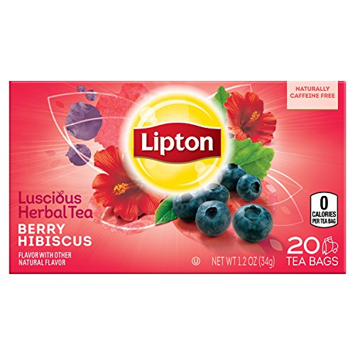 Lipton Herbal Tea Bags, Berry Hibiscus, 20 ct