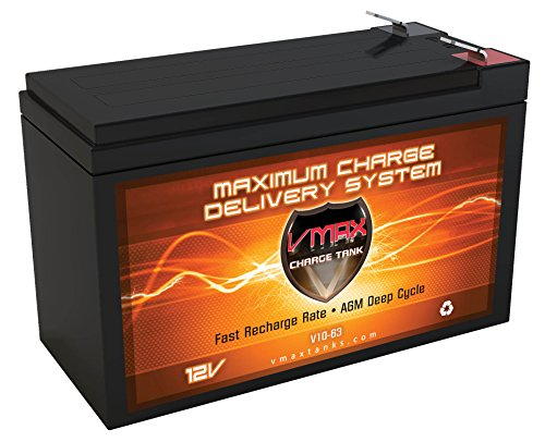 VMAX V10-63F1 10ah 12V AGM Battery Upgrade Compatible with Sea-doo SEASCOOTER GTI STD (Sea Doo Seascooter Gti)