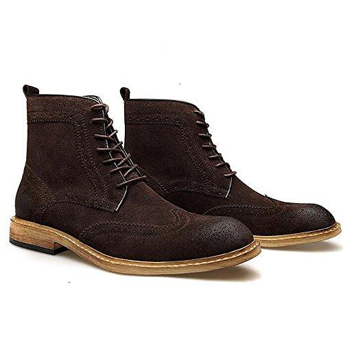 Scarpe casual maschile vestito alpinismo autunno all'aperto [fondo morbido] stivali slip on marrone-nero-C Lunghezza piede=41EU