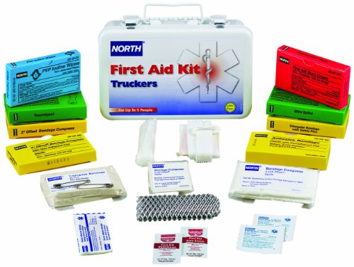 North by Honeywell 019737-0024L Truckers First Aid Kit, 10 Unit, Steel