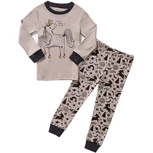 Pajamas for Girls Unicorn Kids Clothes Set Cotton Toddler Pjs Sleepwear Size 6