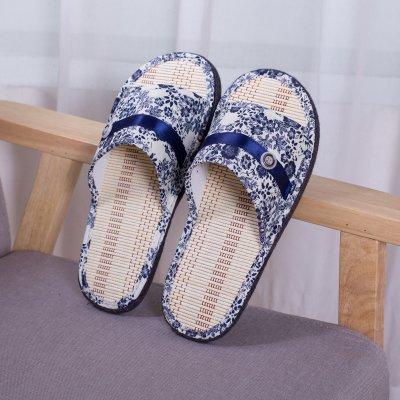 chaussons Anti Chambre Slip LaxBa bleu tricoté coton 42 Hommes Femmes 41 wYTTIq0A