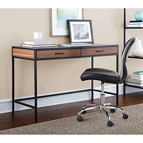 Ash Office Table - Classic Design Mainstays Stylish Metro Home Office Desks with Two Drawers in Warm Ash Finish