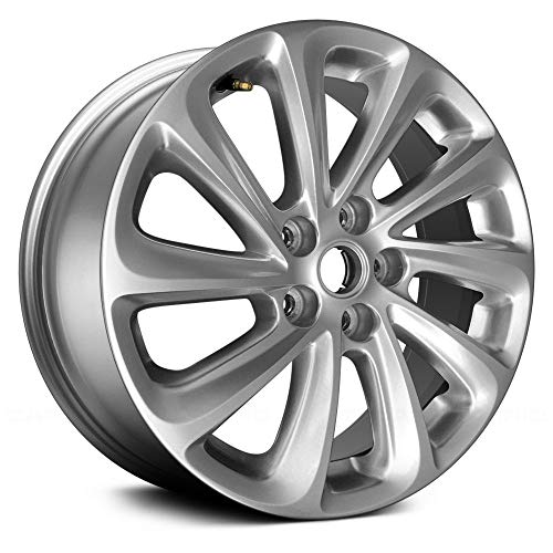 Replacement 18X8 Alloy Wheel 5 Double Spoke Bright Hyper Silver Painted Alloy Wheel 5 Double Spoke
