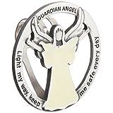 "CA Gift GVC101 Glow in The Dark Guardian Angel Visor Clip, Light My Way, 1-3/4"""