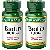 Nature's Bounty Biotin 10,000 mcg, Rapid Release Softgels 120 ea (Pack of 4) Review