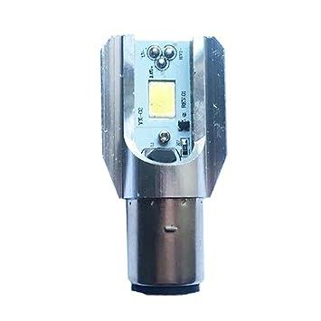 Gazechimp COB LED Luz de Faro Bombilla Delantera de Largas Corto Alcance Accesorio para Moto BA20D: Amazon.es: Coche y moto