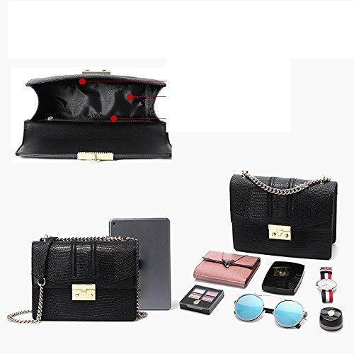 Hombro Bolsa Pequeña Bolsa Black De Cuadrada Cadena Bolsa De Verano De De Moda Mensajero Casual aYnT5A