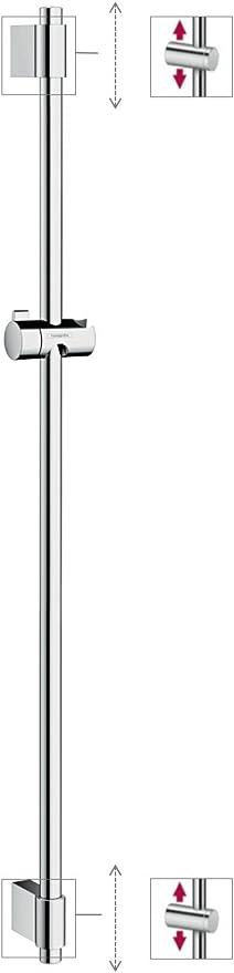 Hansgrohe 27356000 UnicaVario barra de ducha cromo 1,00m