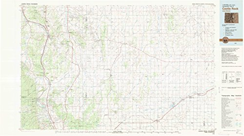 (YellowMaps Castle Rock CO topo map, 1:100000 Scale, 30 X 60 Minute, Historical, 1983, Updated 1983, 24.1 x 43 in - Paper)