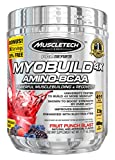 MuscleTech Pro Series Myobuild 4X Amino-BCAA, Powerful MuscleBuilding and Recovery Formula, Fruit Punch Blast, 11.71 oz (332g)