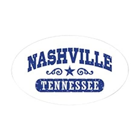 Cafepress nashville tennessee oval bumper sticker euro oval car decal