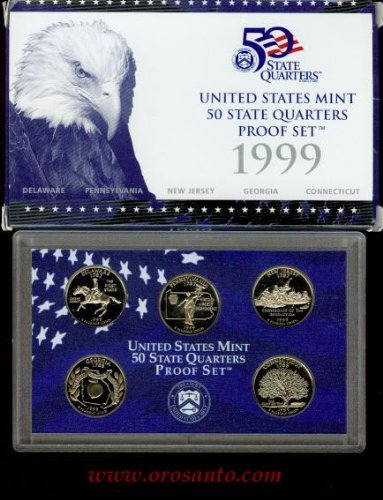 1999-S 50 STATE QUARTERS PROOF SET - 5 COINS ()