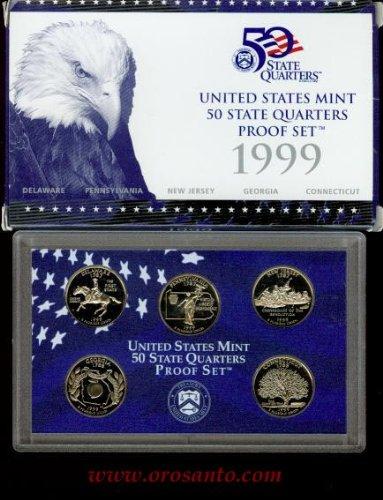 1999-S 50 STATE QUARTERS PROOF SET - 5 ()