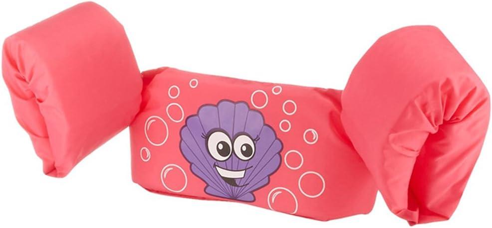 HNLZGL Chaqueta de la Vida del niño, bebés BuoyancyClothing Hijos Brazo Ropa de baño del Traje de baño Viene Musgo (1-7years Viejo)