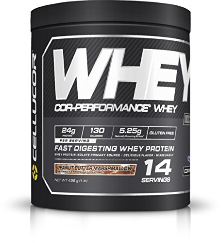 Cellucor COR-Performance Whey Isolate Protein Powder, Post Workout Recovery Drink, Gluten Free Low Carb Low Fat, BCAA, Peanut Butter Marshmallow, 14 Servings