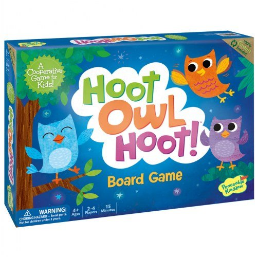 Peaceable Kingdom Hoot Owl Hoot - Cooperative Matching Game For Kids