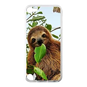 Canting_Good Cute Toed Sloths Custom Case shin for IPod Touch 5 TPU (Laser Technology)