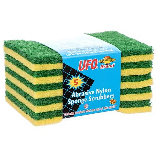 New 375082 Ufo Sponge Scrubber 5 Pk (36-Pack) Kitchen Utensil Cheap Wholesale Discount Bulk Kitchenware Kitchen Utensil