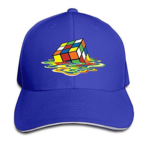 Creative Rubiks Cube Melting Cube Fashion Design Unisex Cotton Sandwich Peaked Cap Adjustable Baseball Caps Hats Royalblue (Baby Halloween Costumes 2017 Uk)
