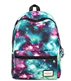 KISS GOLD(TM) Unisex Nylon Galaxy Pattern Laptop Backpack Rucksack Daypack