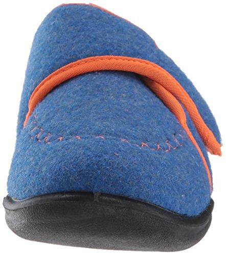 Kamik Boys' Cozylodge Slipper, Blue/Orange, 5 Medium US Toddler - Image 4