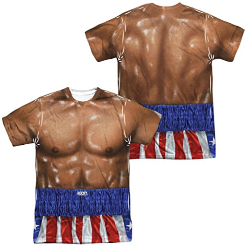 Rocky- Apollo Creed Costume (Front/Back) T-Shirt Size -