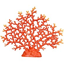 WELLAND Red Tabletop Faux Coral Decoration, 14 inch