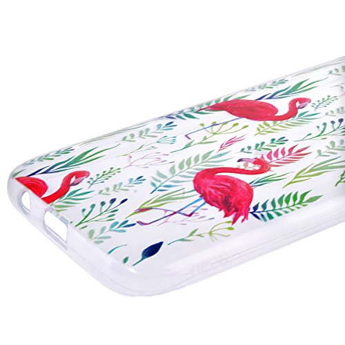 Funda Samsung A5 2017, WE LOVE CASE Ultra Fina Slim Suave Funda Samsung A5 2017 Silicona Transparent Cubierta Clear Cover Original Flexible Gel Anti Rasguños Choque con Diseño Protectora Resistente Fu Flamenco Rosa