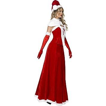 Disfraz de Mamá Noel de lujo para mujer S: Amazon.es ...