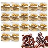 17 Pcs Christmas Cookie Cutters - Xmas/Holiday/Wonderland Party Supplies/Favors - Snowflakes/Gingerbread Man