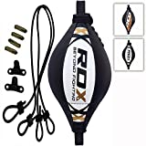 RDX Double End Bag Leather Boxing Floor to Ceiling Rope MMA Training Muay Thai Punching Dodge...