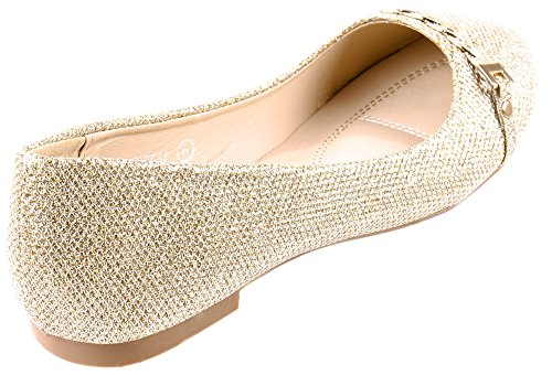 Marie Women's 94 with Shoes Flats Bella Chain Stacy Glittering Braid Gold 7qCaSnwd
