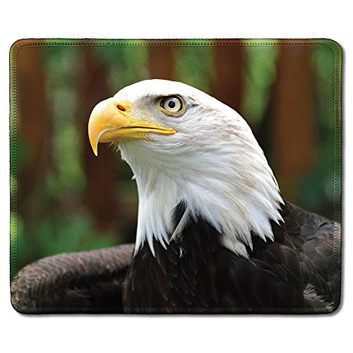 dealzEpic - Art Mousepad - Natural Rubber Mouse Pad Printed with an Eagle in The Wild - Stitched Edges - 9.5x7.9 inches ()