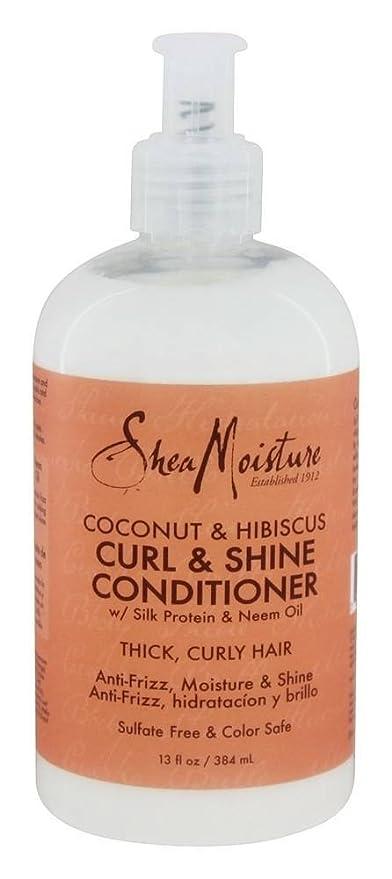 SHEA MOISTURE - Coco e Hibisco - Acondicionador Abrillantador para Cabellos Rizados - Suaviza y desenreda