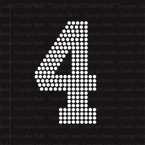 large iron on numbers - 4