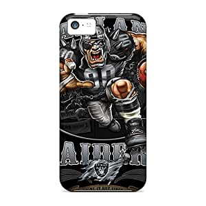 Iphone 5c Case Slim [ultra Fit] Oakland Raiders Protective Case Cover