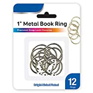 PowerTRC 1 Inch Silver Metal Book Rings for School, Office, Or Home. Organize Your Keys, Cards, Or Papers. Made Out of Sturdy Steel for Everyday Use. Pack of 12 Rings