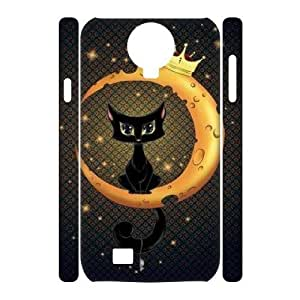Personalized New Print Case for SamSung Galaxy S4 I9500 3D, Cat, Sun and Moon Phone Case - HL-506609