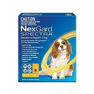 Nexgard, Flea, Tick & Worming Monthly Chew, Spectra, Dog, 3.6-7.5kg, 6pk