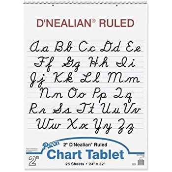 Counting Number worksheets letter trace worksheets : Amazon.com : D'Nealian Chart Tablet, 24