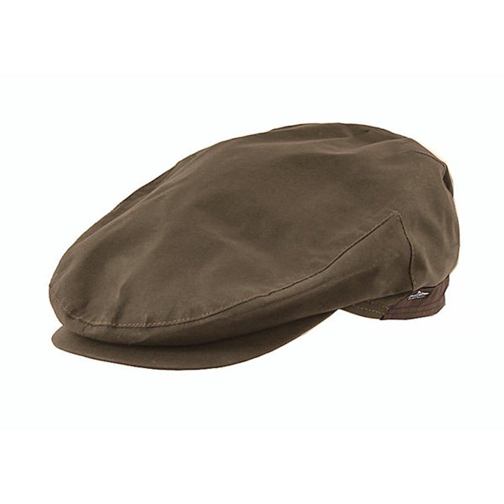 Wigens Walker Waxed Cotton Cap-Khaki-60