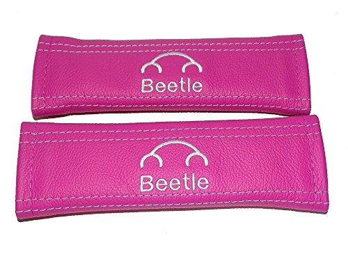 For Volkswagen New Beetle Volkswagen Beetle Seat Belt Covers Pink Leather