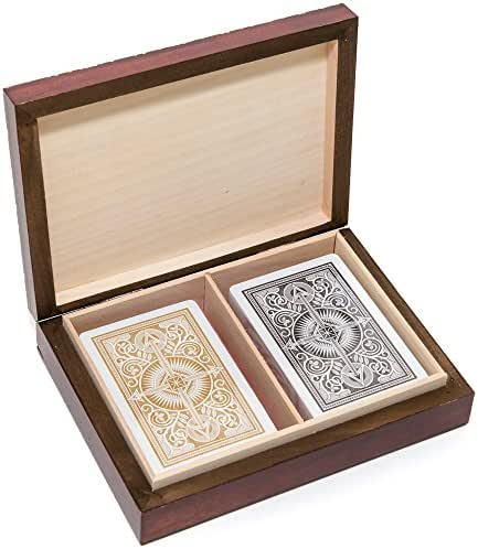 Bello Games New York, Inc. The Knight Card Case & Philip 100% Plastic Narrow Playing Cards by KEM