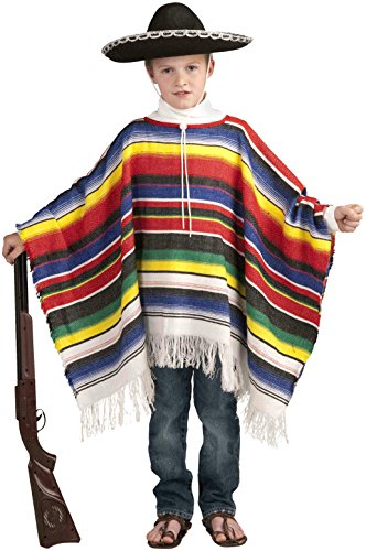 Forum Novelties Mexican Poncho Costume, One (Mexican Girl Costume)