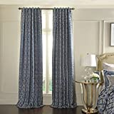 Beautyrest 16915052063LAP Normandy Jacquard Single Window Panel, 52″ x 63″, Lapis