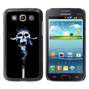 Caucho caso de Shell duro de la cubierta de accesorios de protección BY RAYDREAMMM - Samsung Galaxy Win I8550 - Design Smoke Skull